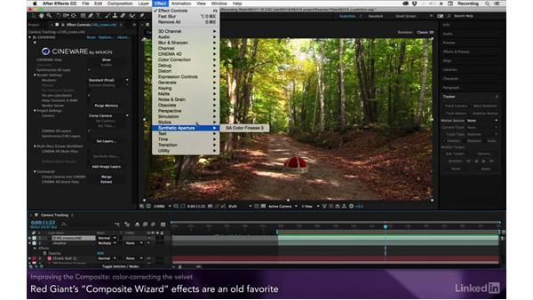 Improving the composite: After Effects Apprentice 19: Motion Tracking with CINEMA 4D Lite