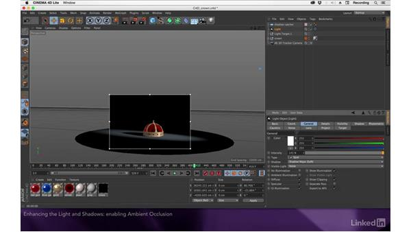 Enhancing the light and shadows: After Effects Apprentice 19: Motion Tracking with CINEMA 4D Lite