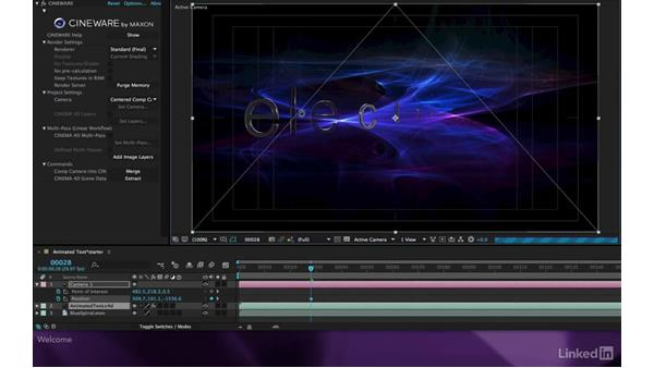 Welcome: After Effects Apprentice 18: 3D Text CINEMA 4D Lite