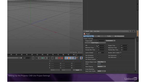 Setting up the projects: After Effects Apprentice 18: 3D Text CINEMA 4D Lite