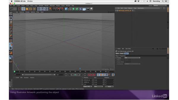 Using Illustrator artwork: After Effects Apprentice 18: 3D Text CINEMA 4D Lite