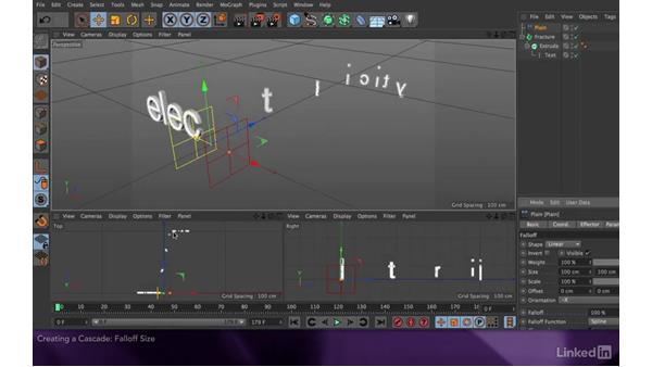 Creating a cascade: After Effects Apprentice 18: 3D Text CINEMA 4D Lite