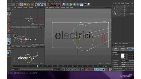 Lighting the scene: After Effects Apprentice 18: 3D Text CINEMA 4D Lite