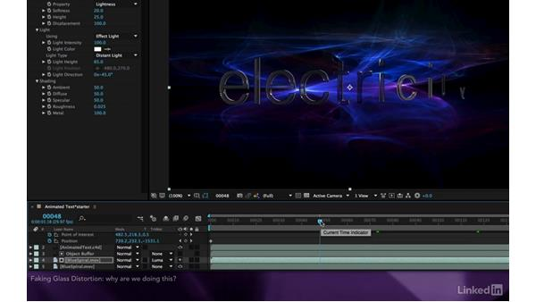 Faking glass distortion: After Effects Apprentice 18: 3D Text CINEMA 4D Lite