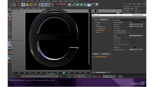 Improving render quality: After Effects Apprentice 18: 3D Text CINEMA 4D Lite