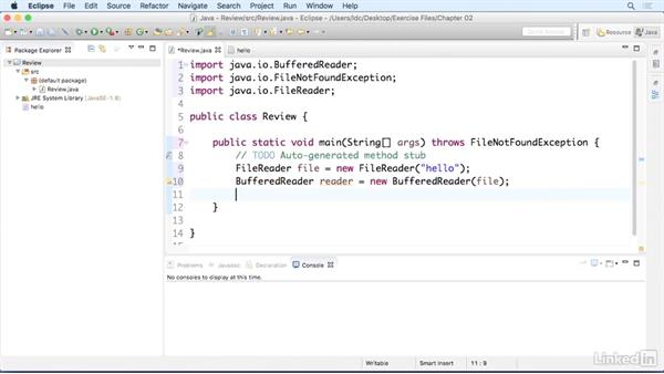 Read data from a file: Up and Running with Java Applications