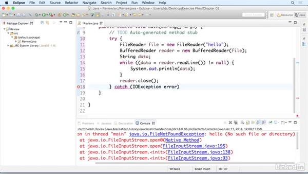 Handle Java errors: Up and Running with Java Applications