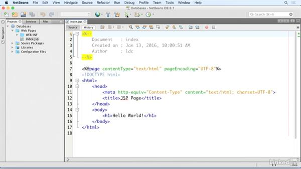 Create a JSP page: Up and Running with Java Applications
