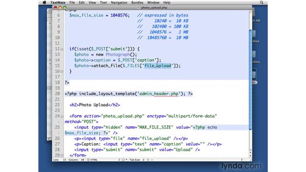 Uploading photographs: PHP with MySQL Beyond the Basics