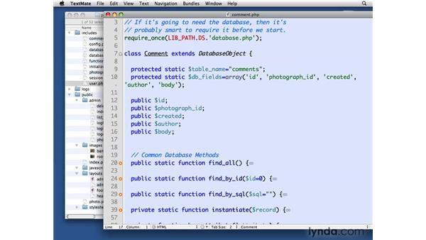 Creating the Comment class: PHP with MySQL Beyond the Basics