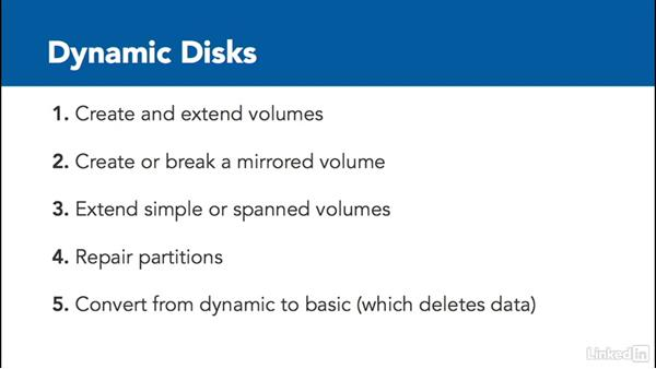 Volumes and disks: Windows Server 2012 R2: Configure File and Storage Solutions