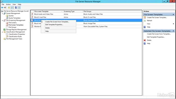 File Server Resource Manager: Windows Server 2012 R2: Configure File and Storage Solutions