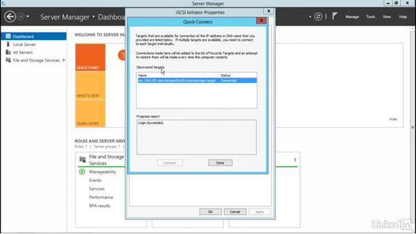 Configure an iSCSI Initiator: Windows Server 2012 R2: Configure File and Storage Solutions