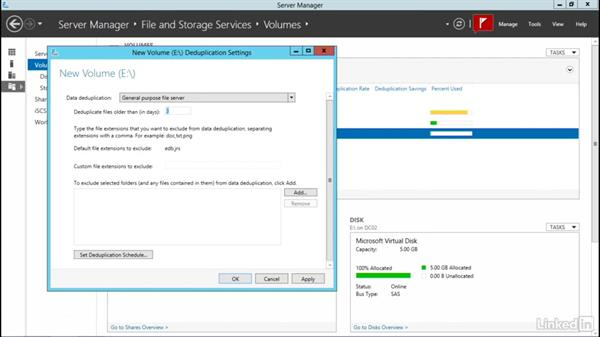 Practical deduplication: Windows Server 2012 R2: Configure File and Storage Solutions