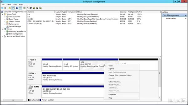 Shrinking storage partitions on Server 2012 R2: Windows Server 2012 R2: Configure File and Storage Solutions