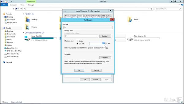 Volume Shadow Copies: Windows Server 2012 R2: Configure File and Storage Solutions
