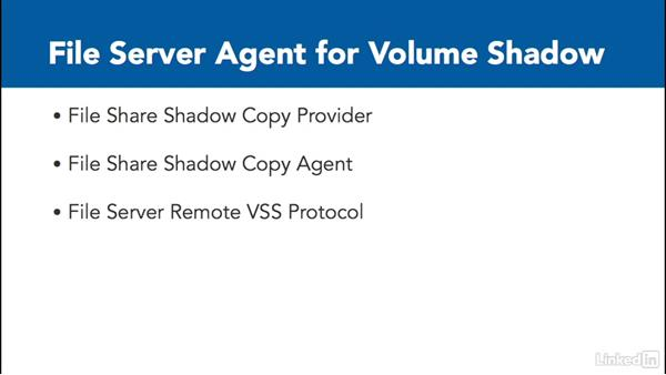 File server agent for Volume Shadow: Windows Server 2012 R2: Configure File and Storage Solutions
