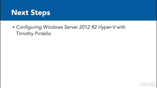 Next steps: Windows Server 2012 R2: Configure File and Storage Solutions