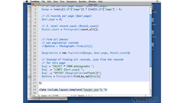 Paginating photographs: PHP with MySQL Beyond the Basics