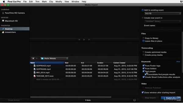 Essential metadata to add to your clips inFinal Cut Pro X: Video Editing: Moving from Production to Post