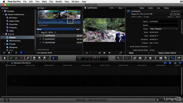 Using subclips to organize long clips in Final Cut Pro X: Video Editing: Moving from Production to Post