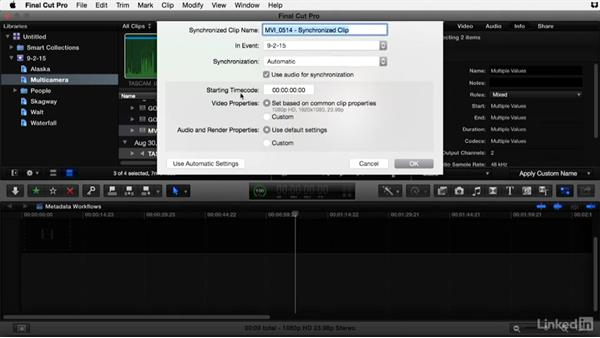 Syncing dual sound media in Final Cut Pro X: Video Editing: Moving from Production to Post