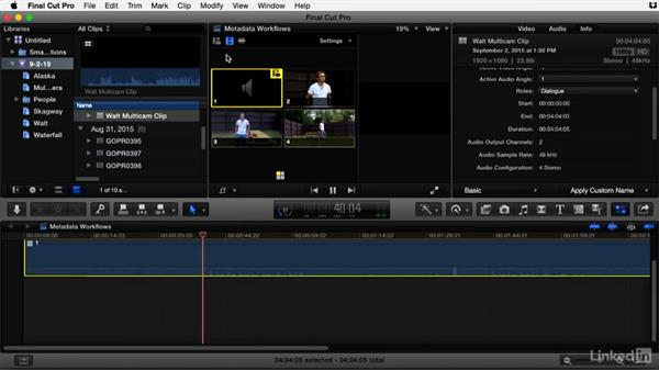 Syncing multicamera projects in Final Cut Pro X: Video Editing: Moving from Production to Post
