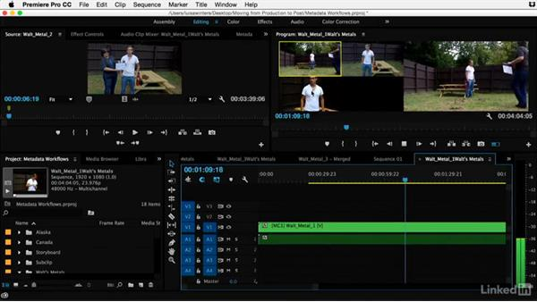 Syncing multicamera projects in Premiere Pro: Video Editing: Moving from Production to Post