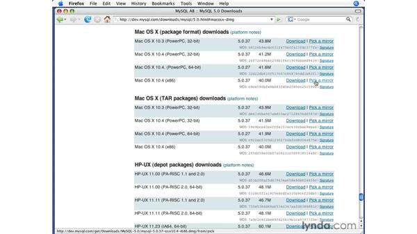 Installing on Mac 10.4 (Tiger): PHP with MySQL Beyond the Basics