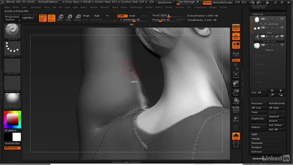 Extracting cloth from a figure: ZBrush: Learn to Sculpt Cloth
