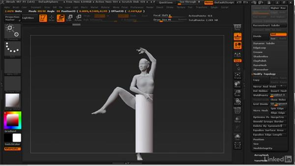 Making cloth with primitives: ZBrush: Learn to Sculpt Cloth