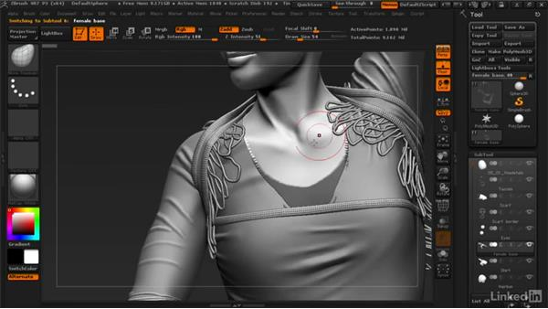 Adding the final details: ZBrush: Learn to Sculpt Cloth