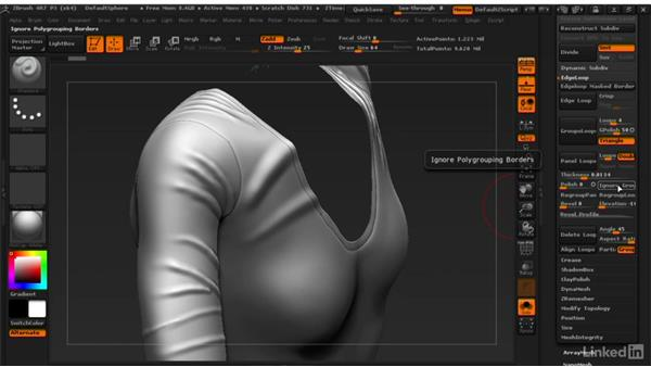 Giving clothing thickness: ZBrush: Learn to Sculpt Cloth