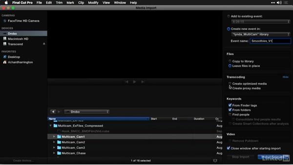 Loading footage into Final Cut Pro X: Multi-Camera Video Production and Post