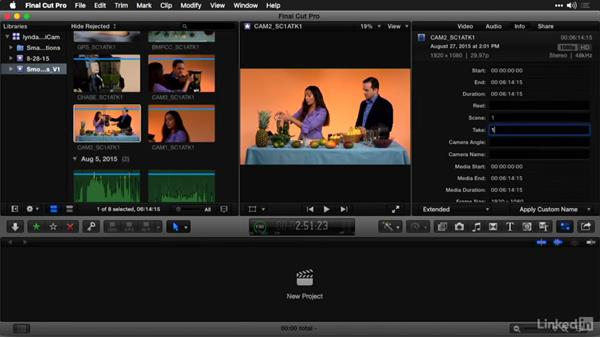 Assign camera names and multicam angles: Multi-Camera Video Production and Post