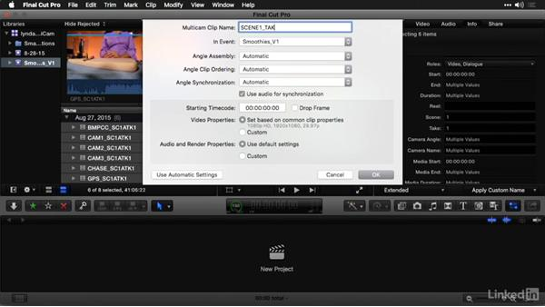 Create multicam clips: Multi-Camera Video Production and Post