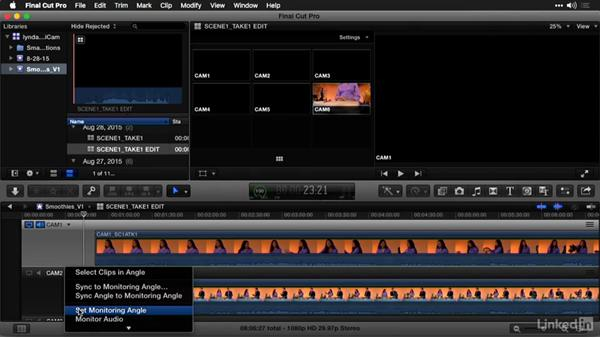 Syncing and adjusting angles in the Angle Editor: Multi-Camera Video Production and Post