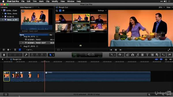 Cutting and switching between angles in the Angle Viewer: Multi-Camera Video Production and Post
