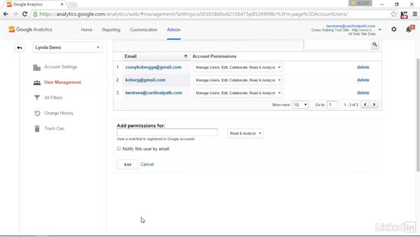 Get started with user management: Advanced Google Analytics