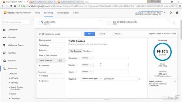 Create custom segments: Advanced Google Analytics