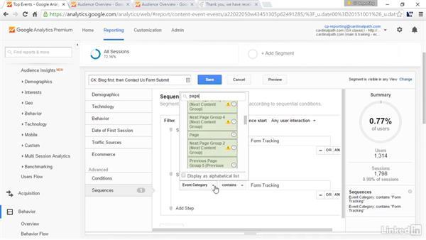 Segment visitors: Sequenced segments: Advanced Google Analytics