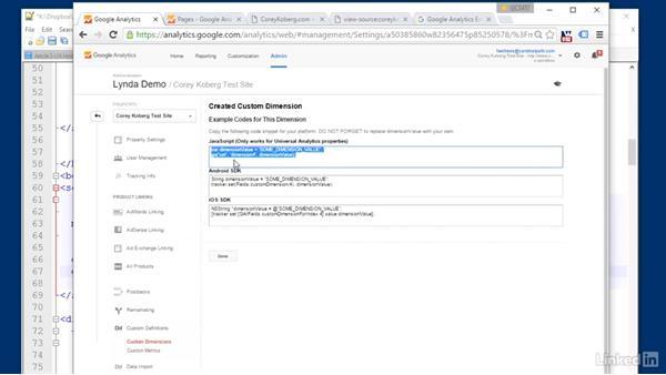 Custom dimensions: Personalize data: Advanced Google Analytics