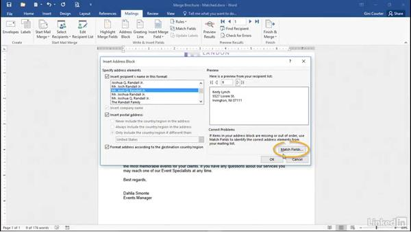 Welcome: Mail Merge in Depth with Word 2016
