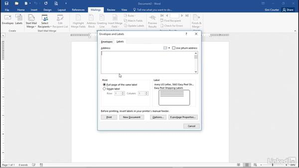 Creating identical labels: Mail Merge in Depth with Word 2016