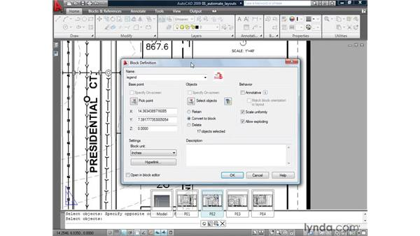 Using blocks to automate layout data: AutoCAD 2009: Mastering References