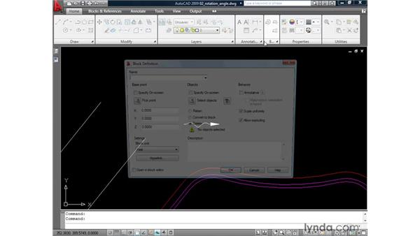 Leveraging the block rotation angle: AutoCAD 2009: Mastering References