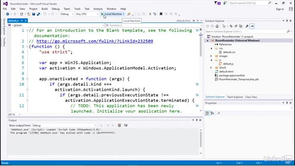 Launching and debugging: Developing Universal Windows Apps