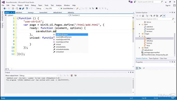 Navigating between pages: Developing Universal Windows Apps