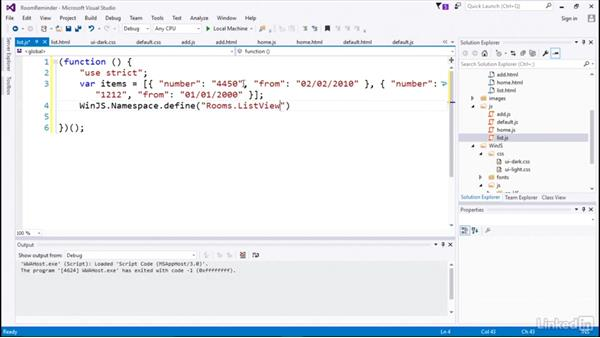 List binding data: Developing Universal Windows Apps