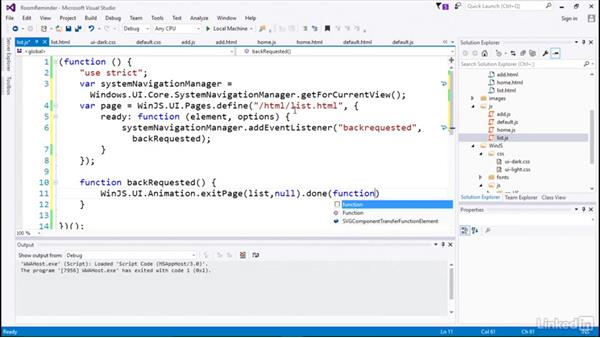 Using a Windows Core API: Developing Universal Windows Apps